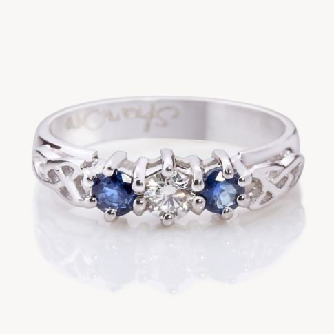 sapphire and diamond celtic ring - Google Search