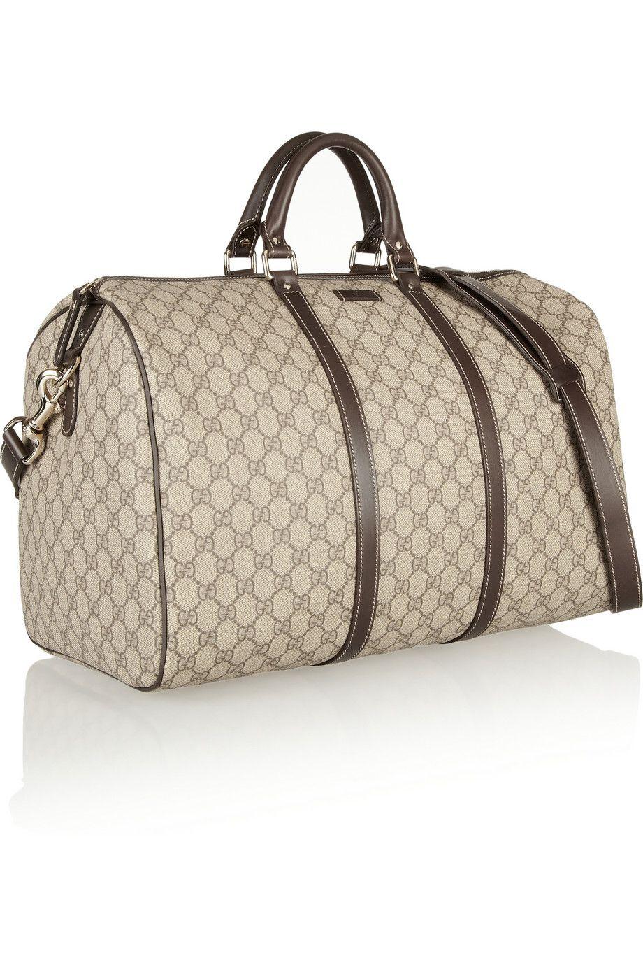 Gucci Monogrammed Canvas Weekend Bag Net A Porter Com