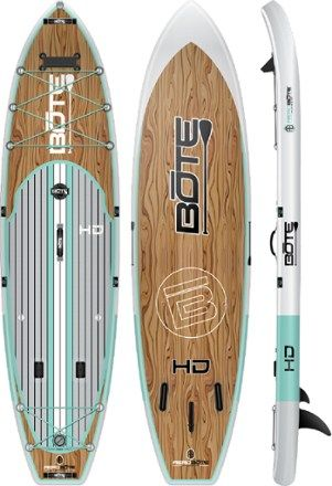Bote Hd Aero Inflatable Stand Up Paddle Board With Paddle 11 6 Classic 11 Ft 6 In Paddle Boarding Boat Building Water Crafts