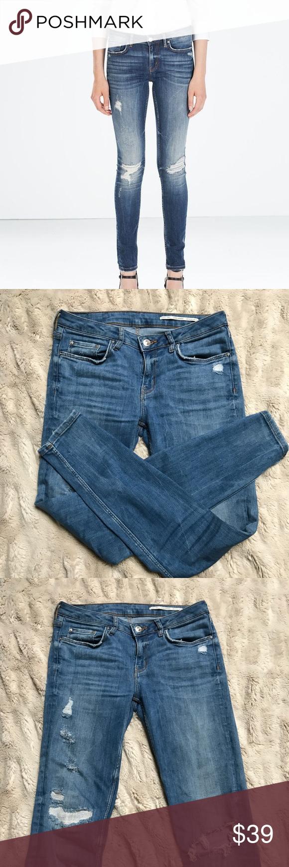 f7151ecb431 ZARA Premium Denim Distressed Skinny Jeans ZARA Premium Denim distressed  skinny jeans. Pre-loved