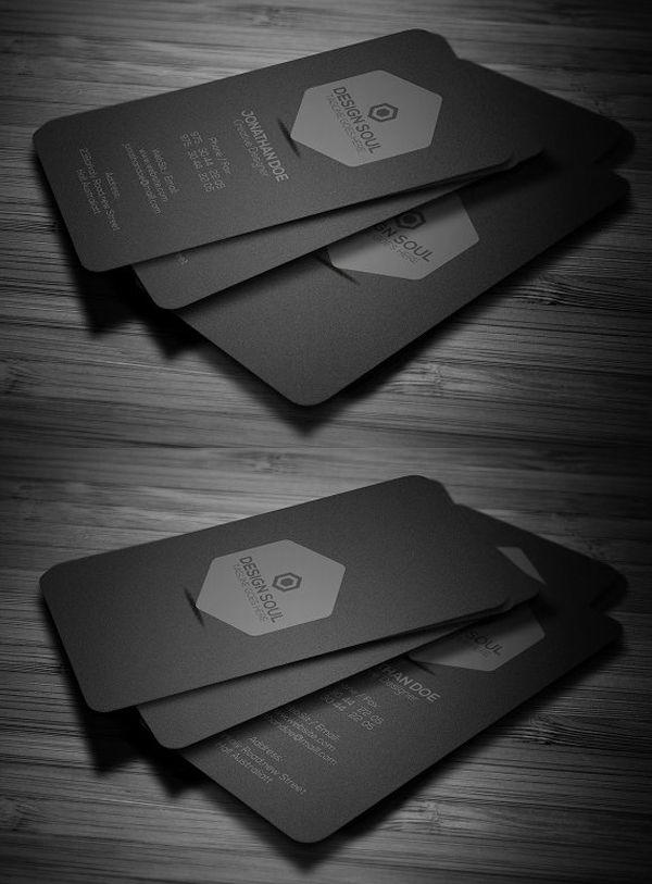 Minimal dark business card design pinterest business cards minimal dark business card colourmoves