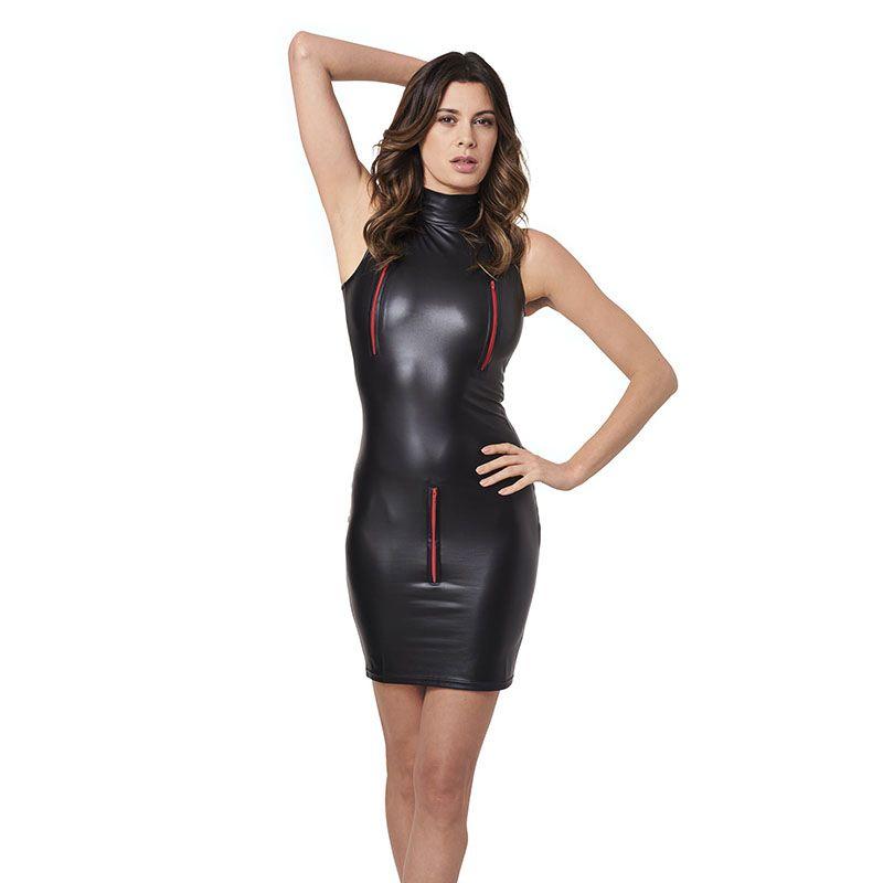 Dower Me Apparel Plus Size Sexy Vinyl Leather Short Skinny Club