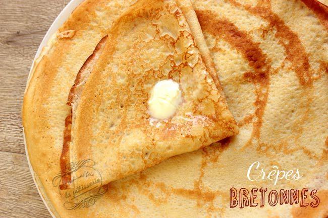 Crêpes bretonnes faciles  des crêpes sucrées et moelleuses à souhait !  crepe chandeleur