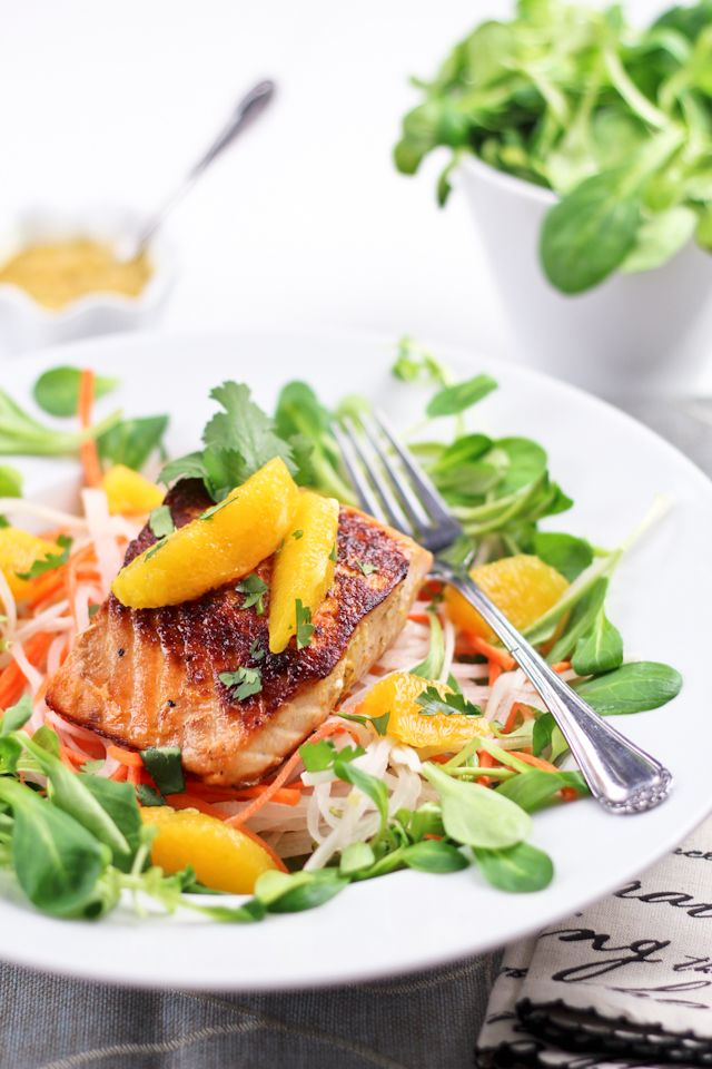 Orange Ginger Salmon Fillet #food #yummy For guide + advice on healthy lifestyle, visit www.thatdiary.com