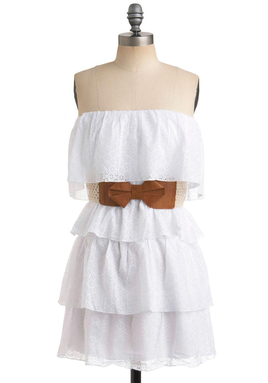Strapless Short Casual Spring Dresses