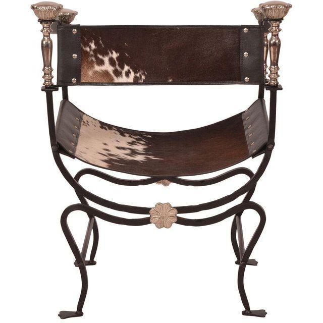 Savonarola Cowhide Sling Chair