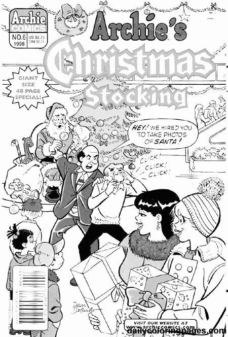 Archie Comics Christmas Coloring Pages Archie Comics Christmas Coloring Pages Comics