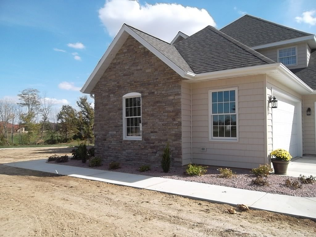 newly installed landscape design
