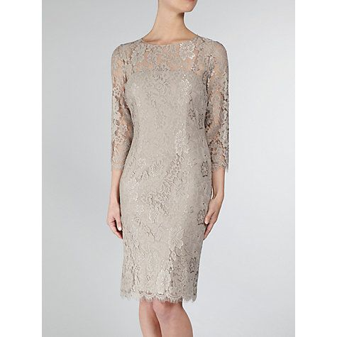 0e02d1f4d6aef7 Buy Gina Bacconi Scallop Flower Lace Dress, Beige Online at johnlewis.com