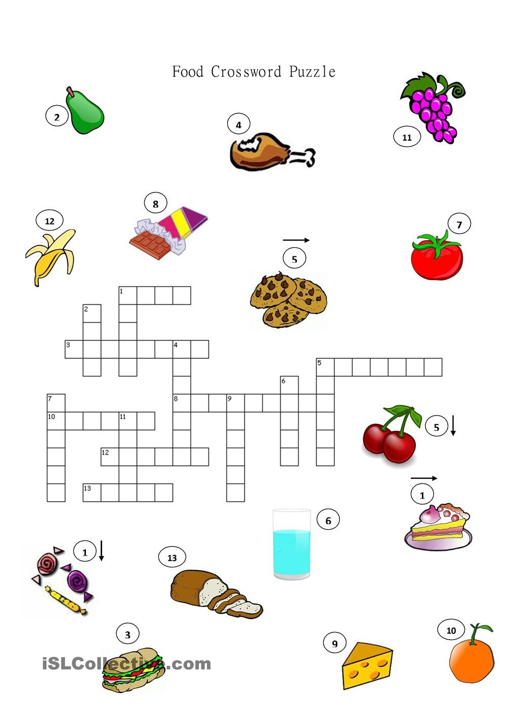worksheet English Language Puzzles Worksheets food crossword puzzle ingles pinterest english worksheets and puzzlesprintable worksheetsteaching materialsenglish languageeslenglish