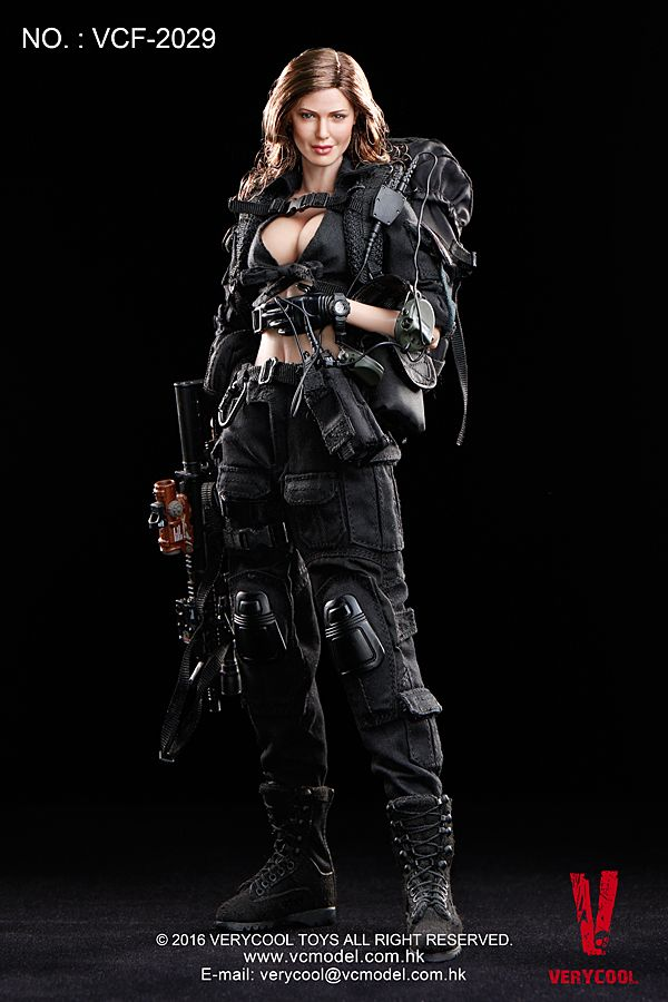 1//6 Scale Toy Female Black Shooter Cap