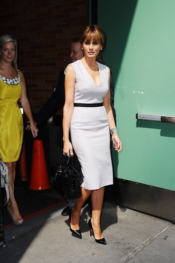 Melania Trump Day Dress Trump Fashion Milania Trump Style Designer Evening Dresses