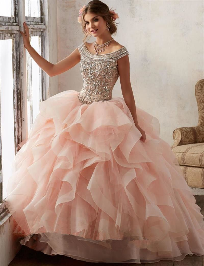 ... Dresses Information about Bealegantom Sexy Crystal Ball Gown  Quinceanera Dresses 2017 With Beading Sweet 16 Dresses For 15 Years  Vestidos De 15 Anos ... 849d2b038130