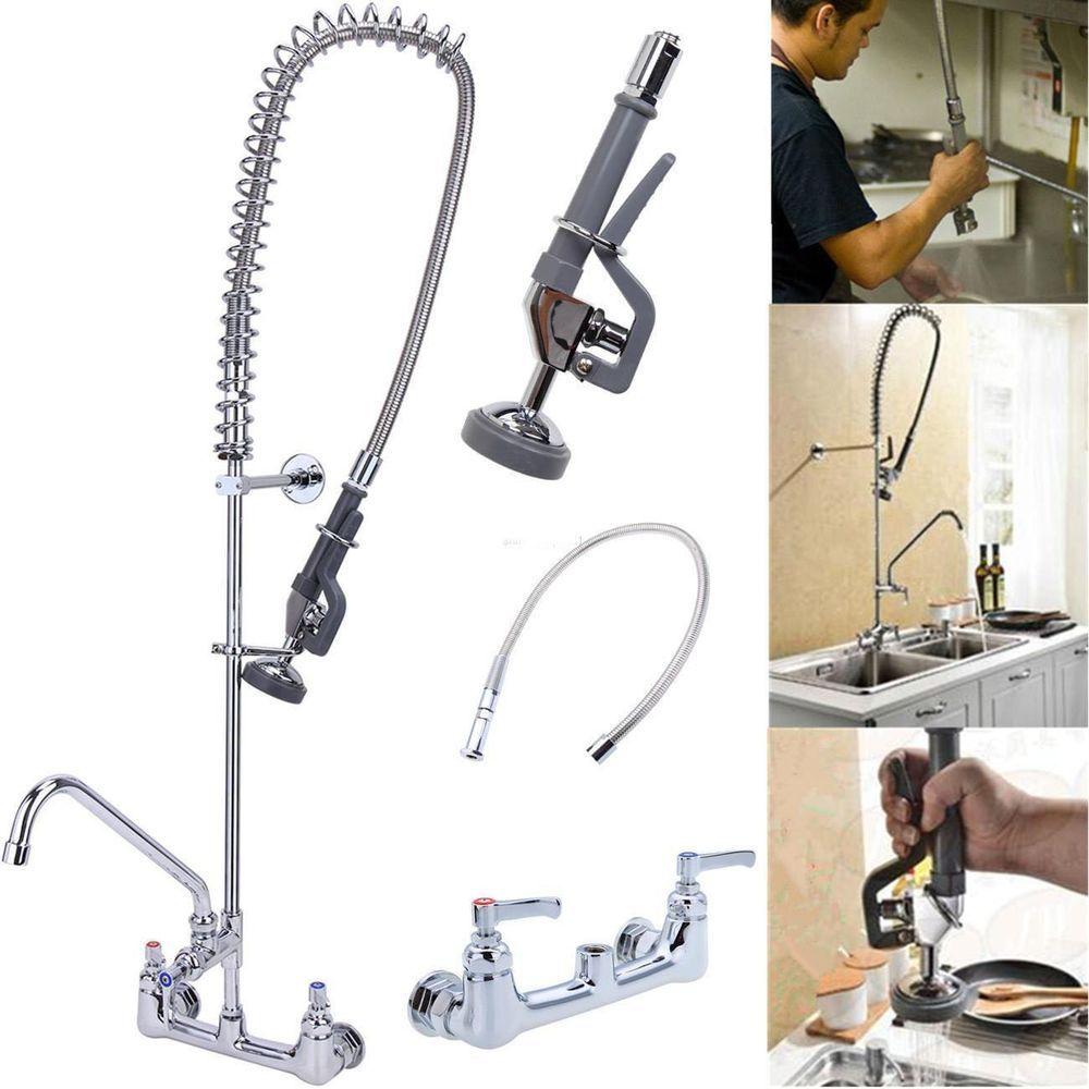 Details about Swivel Spout Pre-Rinse Kitchen Faucet 12 ...