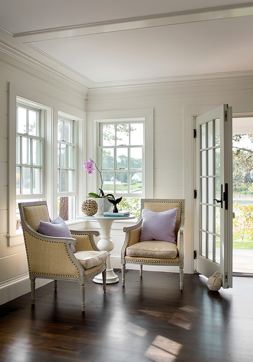 Elegant Yet Simple Foyer Features A Styled White Round Marble Top Pedestal Table Accent Table