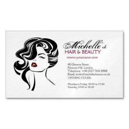 Makeupartist businesscards lovely girl with wavy hair makeup makeupartist businesscards lovely girl with wavy hair makeup icon magnetic business card colourmoves Images