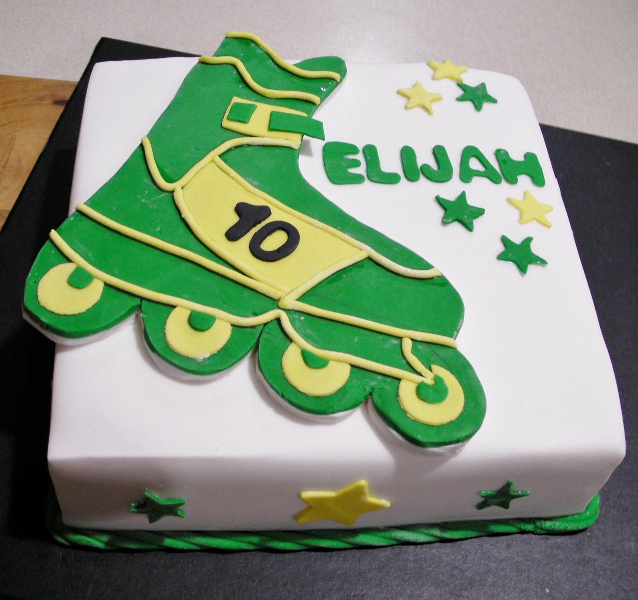 Rollerblade Cake Roller Skating Party Roller Skate Cake Skate Party