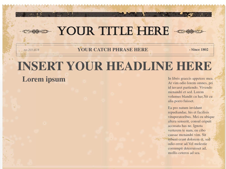 Newspaper Article Template Printable