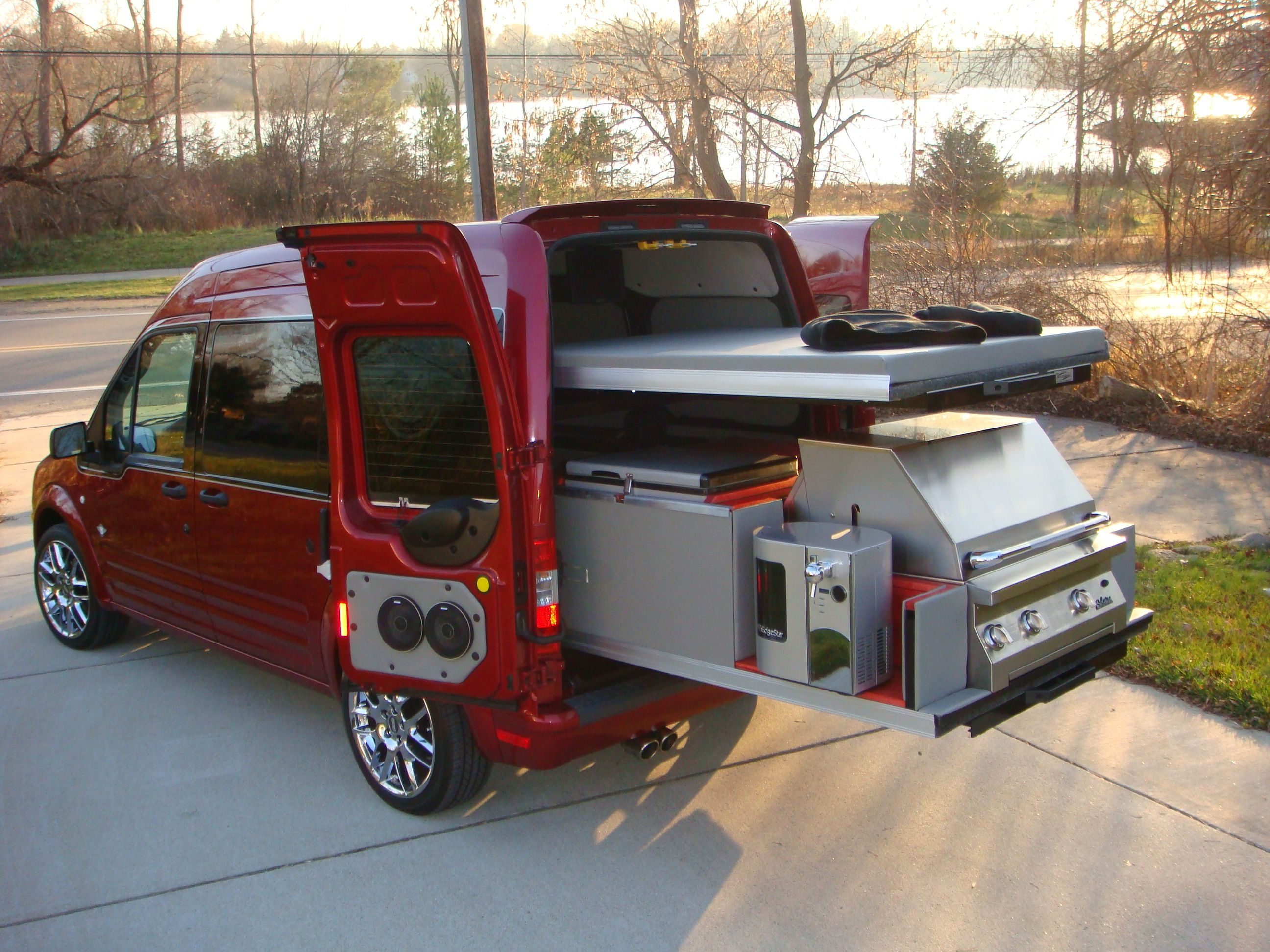 Awesome Tailgate Rides Ford Transit Ford Transit Camper