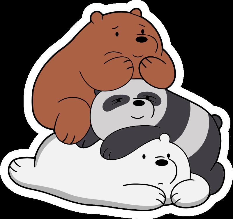 We Bare Bears Together Sticker