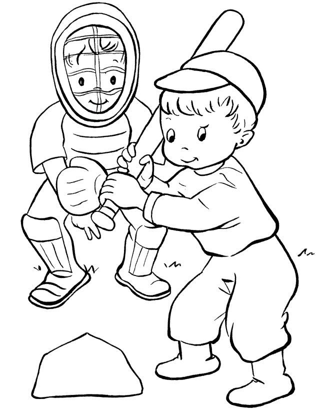 Top 20 Baseball Coloring Pages For Toddlers | Child, Crafts and ...