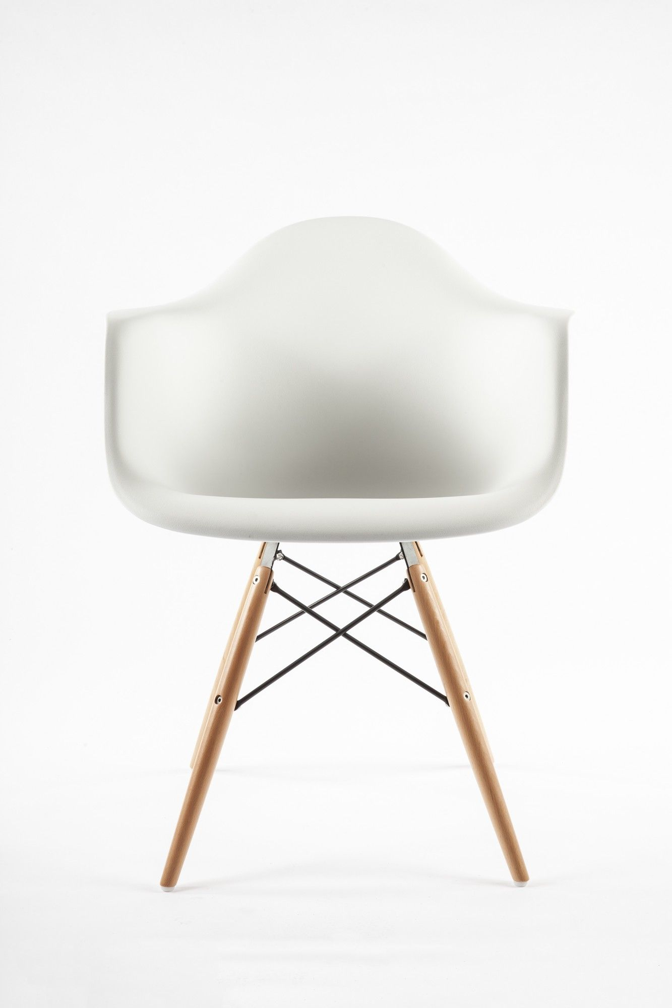 The Mid Century Eiffel Arm Chair With Wooden Dowel Legs