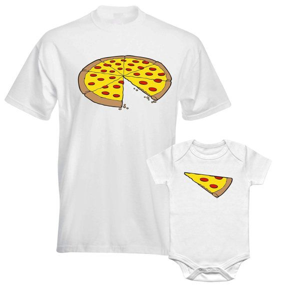 fathers day gift dad son matching t shirts whole pizza 1 slice missing daddy daughter son family. Black Bedroom Furniture Sets. Home Design Ideas