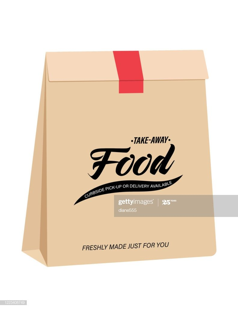 Brown paper bags for home delivery or curbside pickup