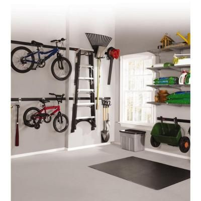 Rubbermaid fasttrack garage 1 bike horizontal bike hook for Rubbermaid fasttrack