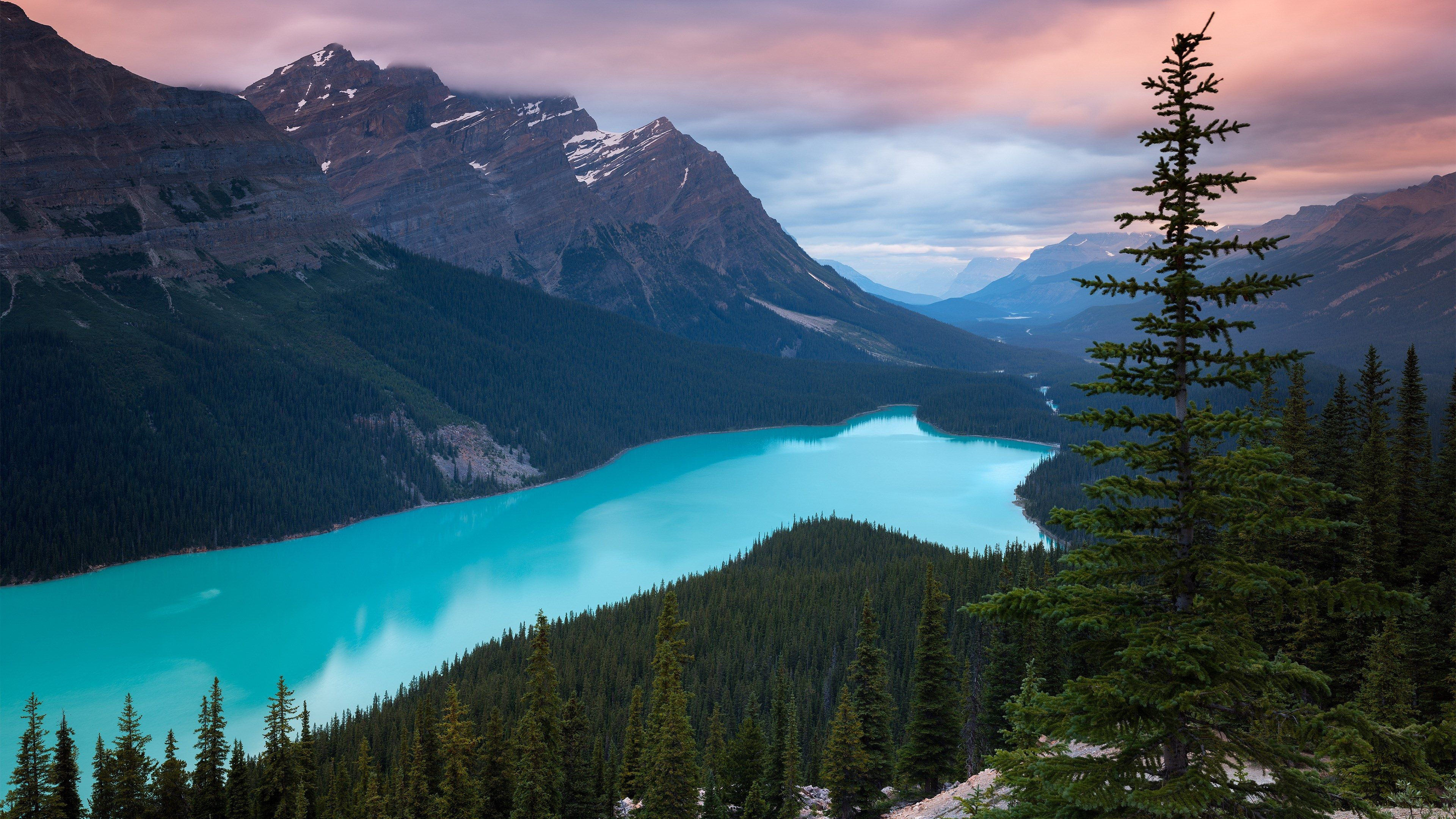 3840x2160 mountains 4k high res wallpaper Canada lakes