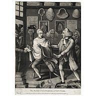 "Patriotick Barber of New York    February 12, 1775  Artist/Maker: Robert Sayer (1725-1794)  Artist/Maker: Philip Dawe  Origin: England  Overall 14 7/8"" x 11"" Plate 13 3/4"" x 9 3/4""  Black and white mezzotint; CW Acc. No. 1946-100"