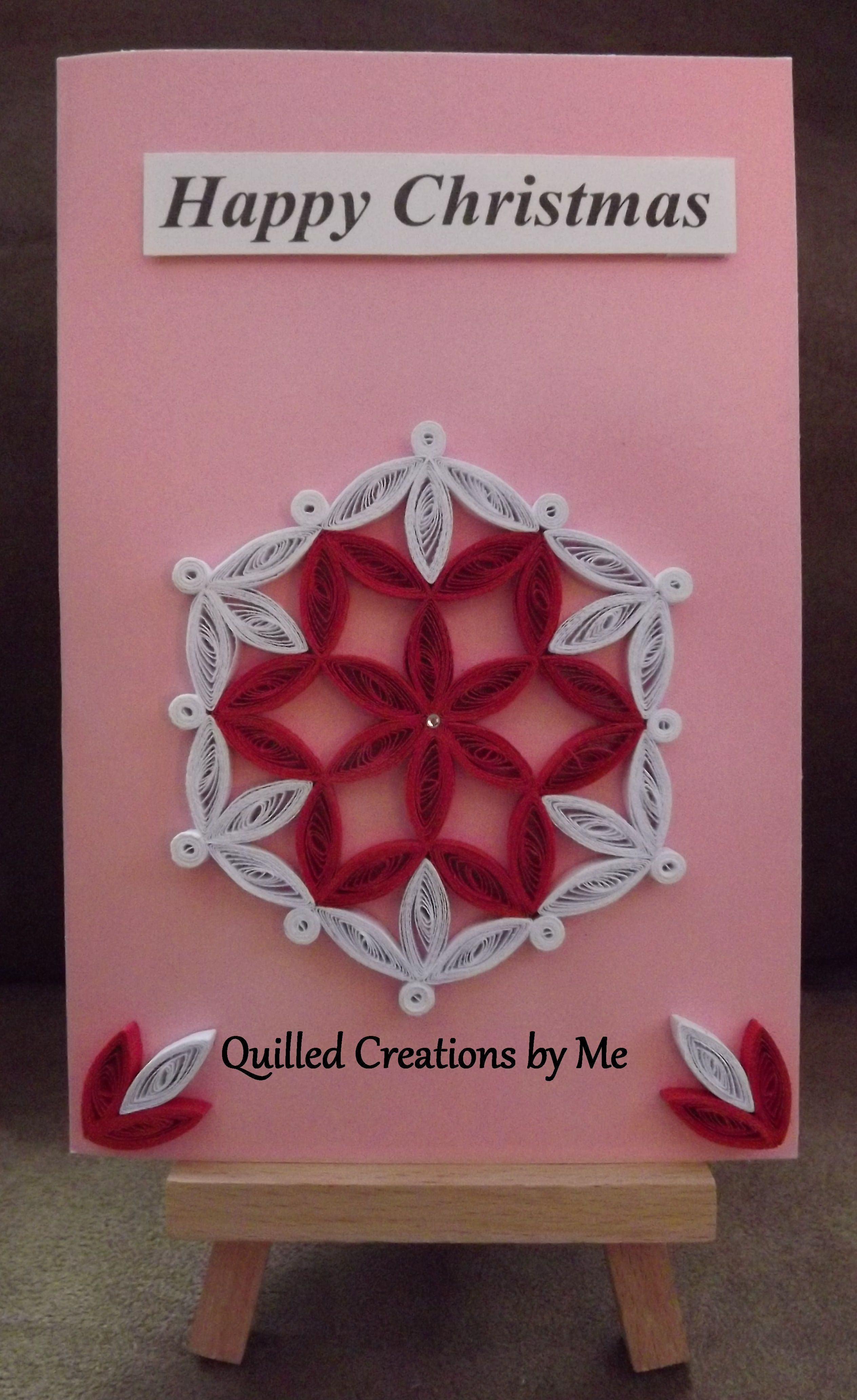 quilled christmas card  quilling  pinterest