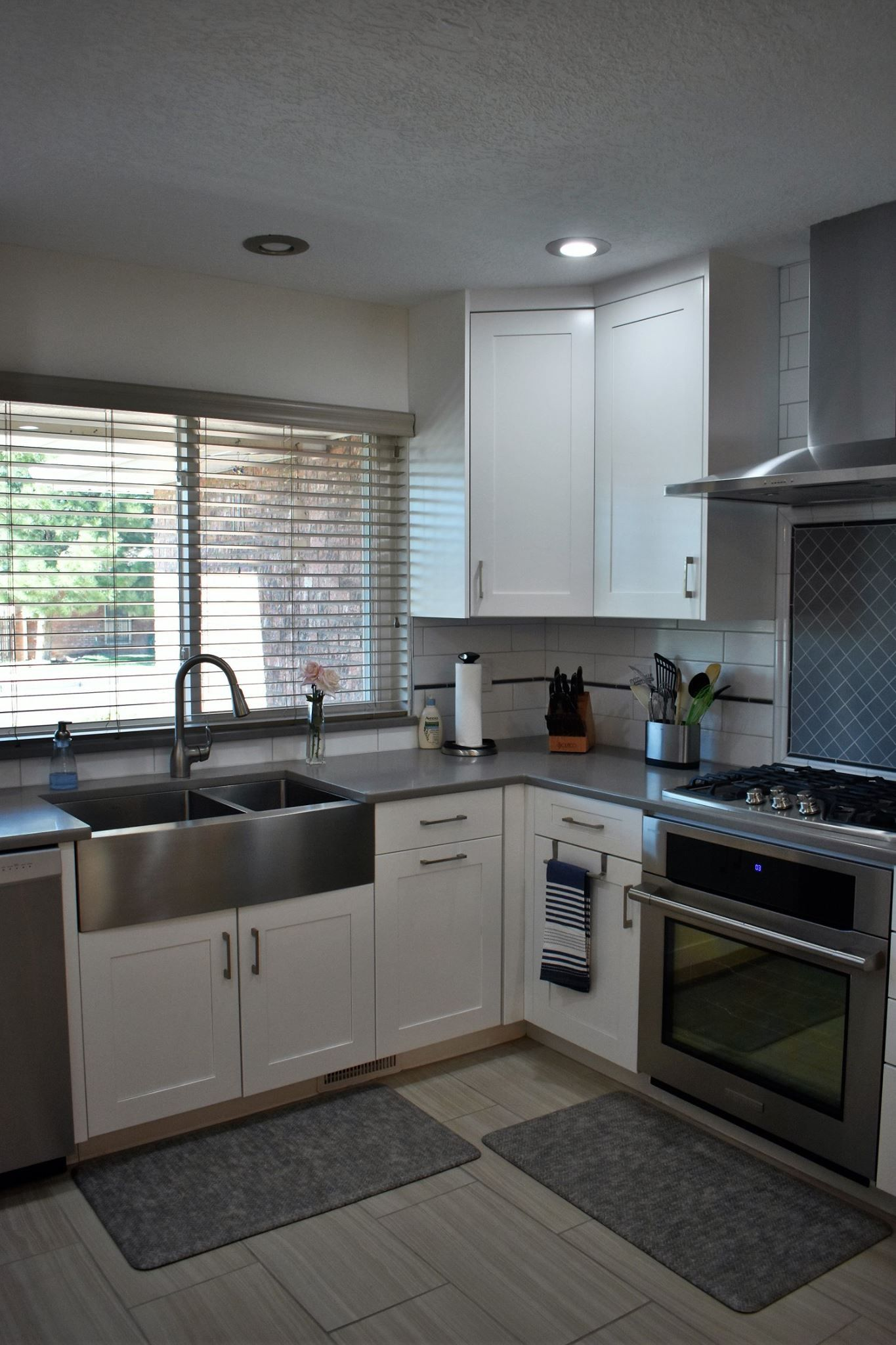 After demolishing two walls in this kitchen, it was ...