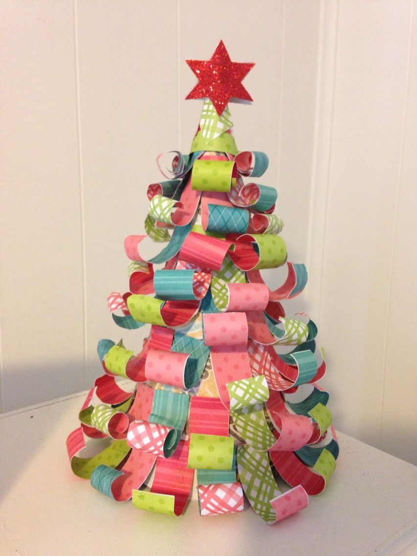Christmas Art N Craft Ideas Part - 47: Paper Scrap Christmas Tree Saturday Morning Craft 5th Or 6th Grade Arts N  Crafts Project
