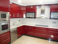 Reuscuina Cocina De Formica Rojo Negra Decoracion De Cocina Moderna Decoracion De Cocina Diseno Muebles De Cocina