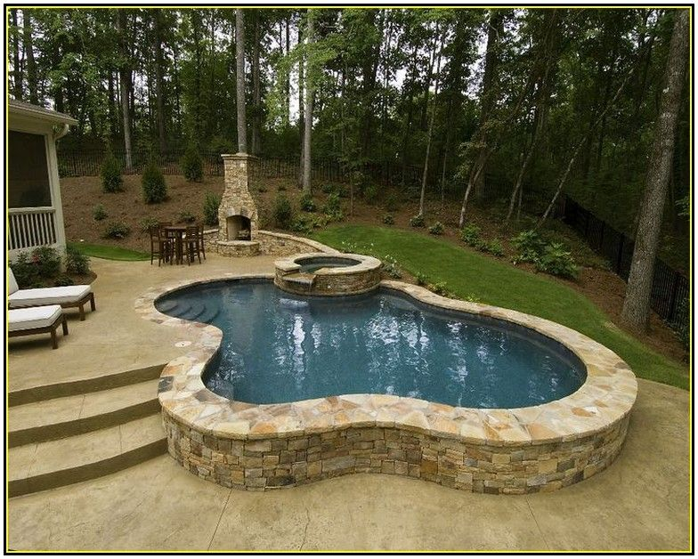 Pictures of above ground pool landscaping ideas hot tubs - Above ground pools for small backyards ...