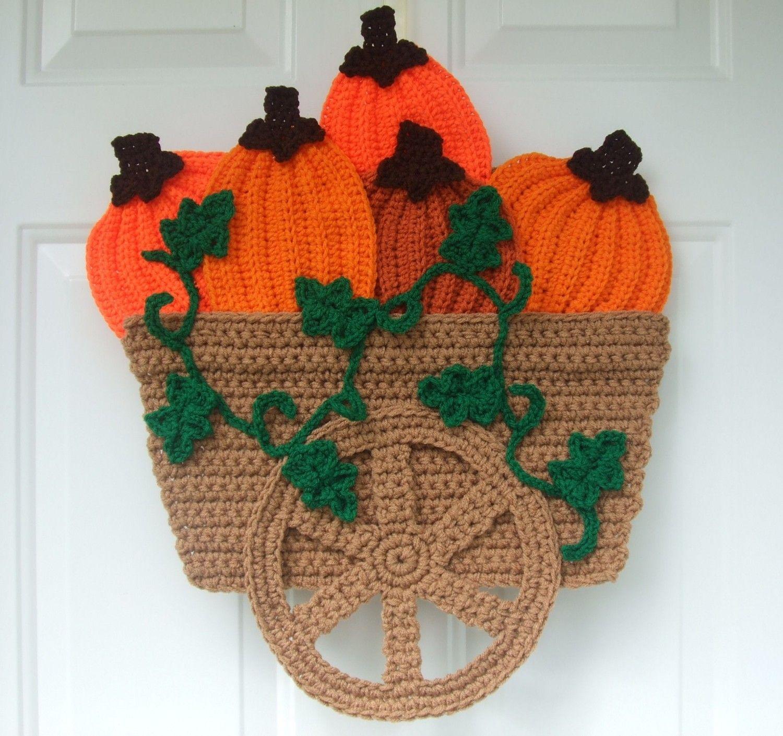 CROCHET PATTERN - CV040 Pumpkin Wagon Door Hanging - PDF Download ...