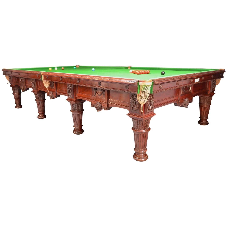 Magnificent Decorative Antique Billiard Snooker, Pool Table 1