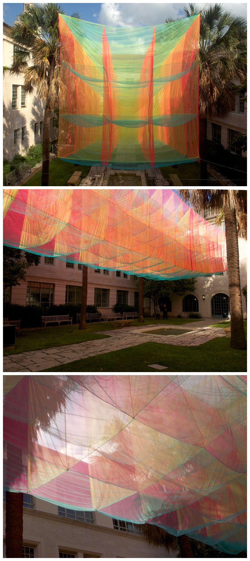 Akane Moriyama Suspends Transparent Cubic Prism In Texas