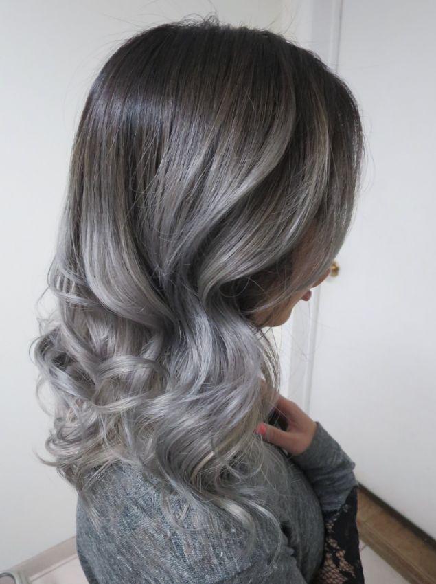 silver fox on asian hair