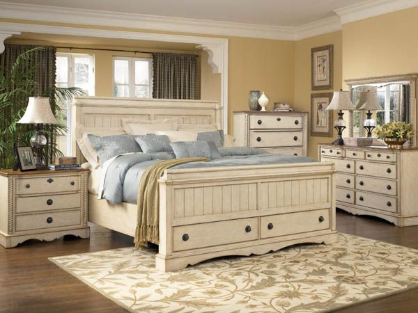 Master Bedroom Ideas with Country Furniture Picture  Home