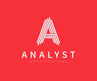 ロゴ Analyst 直線 ロゴクラブ かっこいいロゴマーク作成デザイン Logo Templates Letter Logo Logo Design Template