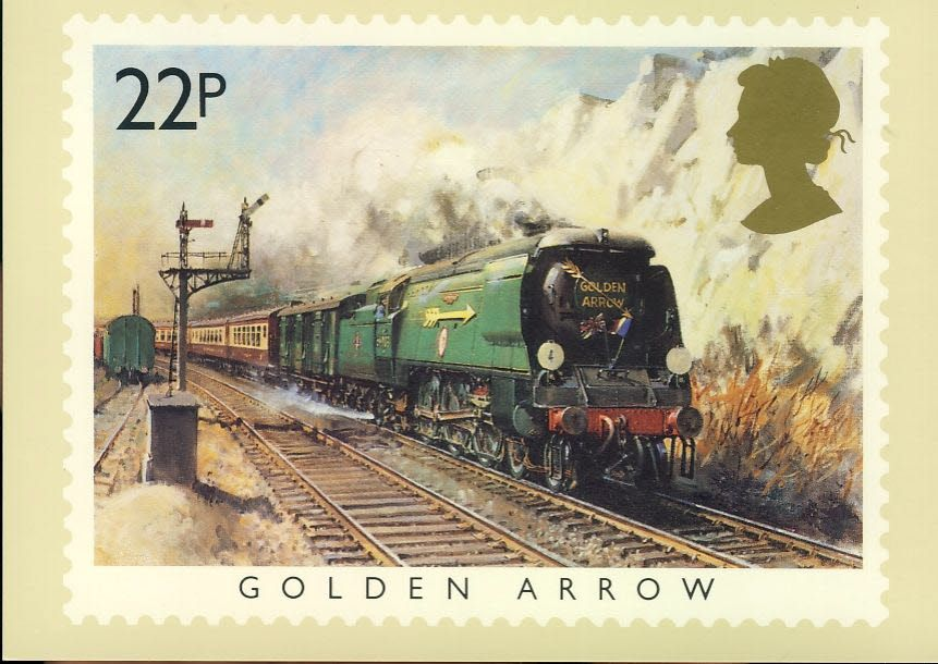 1985 Golden Arrow Phq Stamp Postcard Orient Express Victoria Station London Famous Trains Refd0029 Postcard Victoria Station London Stamp