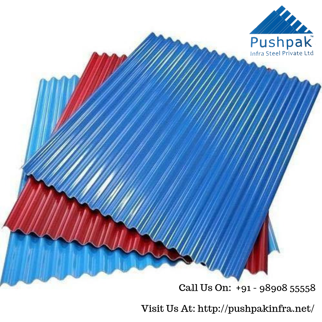 Pushpak Infrasteel Is Best Color Coated Sheets Manufacturer Company In Pune Maharashtra India The Color Coated S Corrugated Roofing Manufacturing Metal Deck