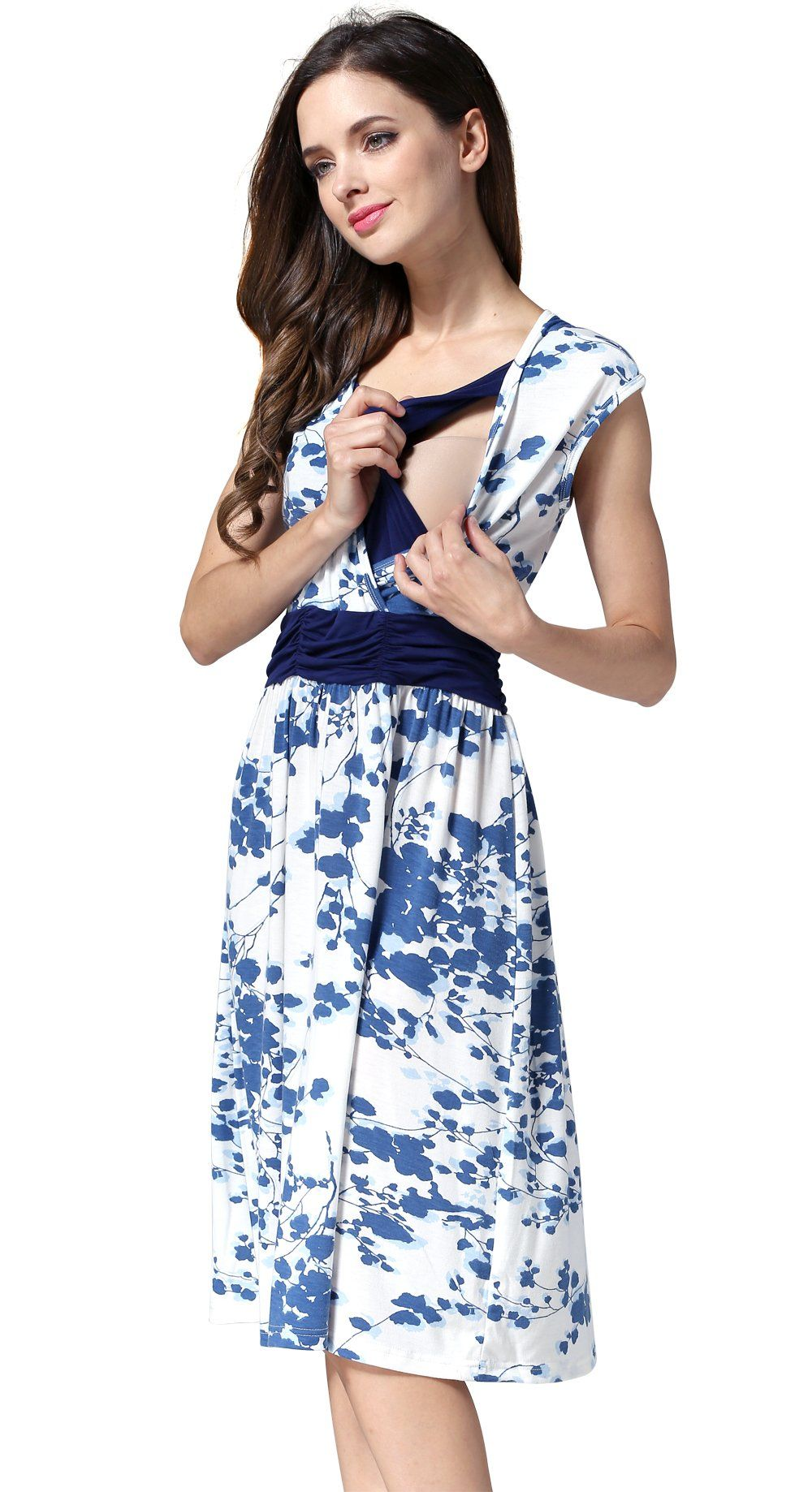 4f5e913c6728 Maternity Styles - cool maternity dresses   Emotion Moms Flower Maternity  Clothes Breastfeeding Nursing Dresses for Pregnant Women XLarge Blue   For  more ...