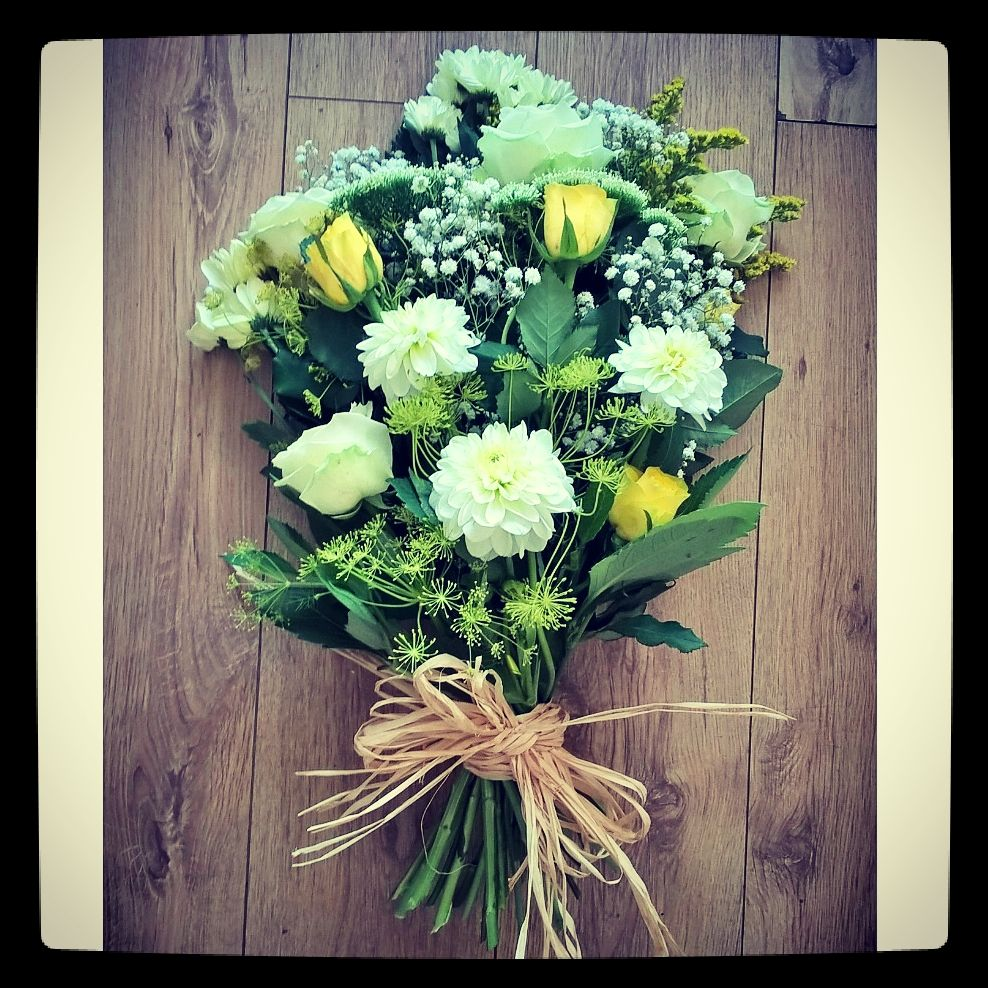 Tied sheaf Funeral flowers, Flowers, Floristry