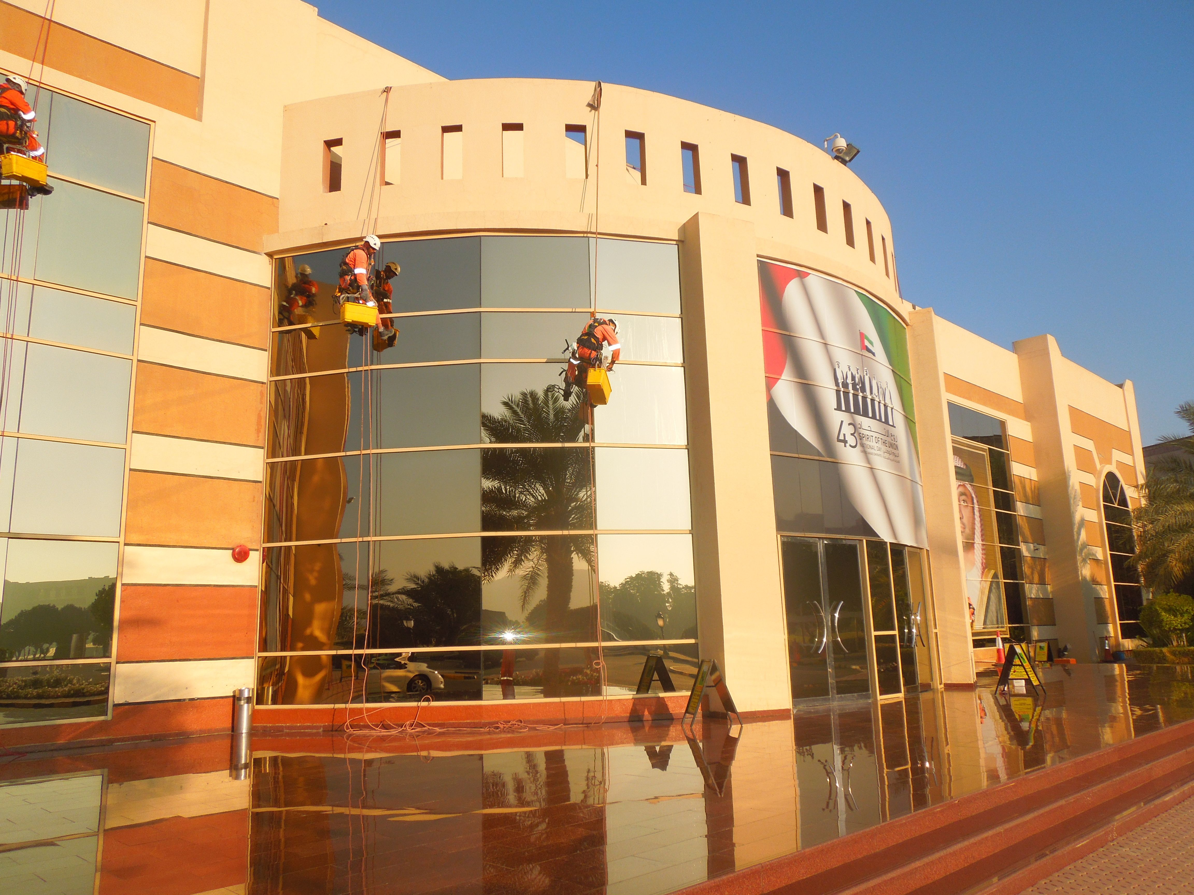 Window cleaning services at Ajman University of Science and