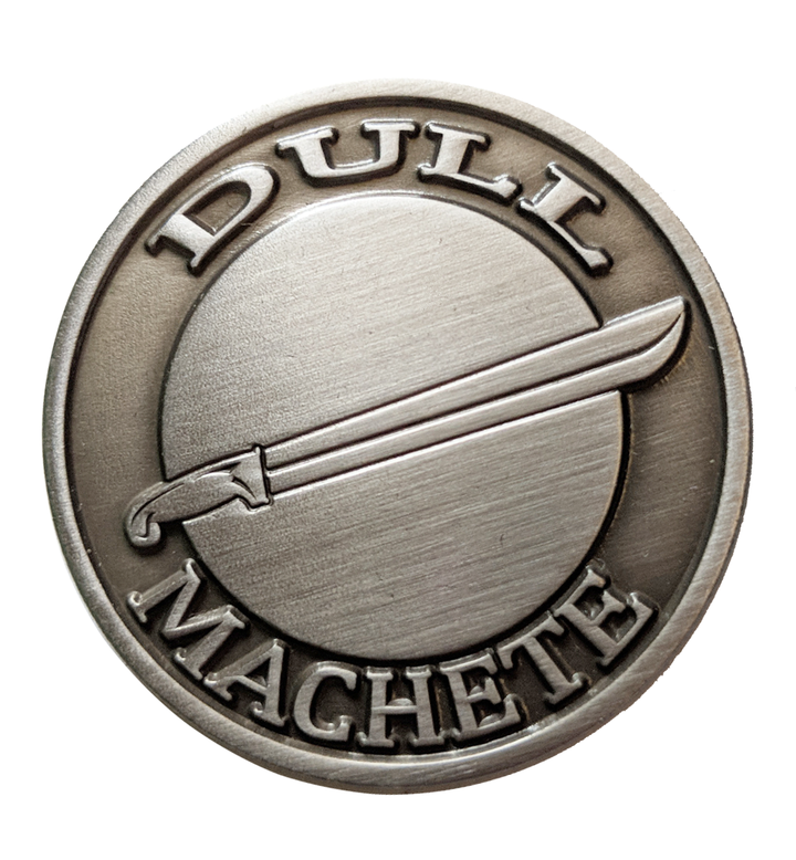 Dull Machete Pin Dead Meat Store Machete Dull Pin