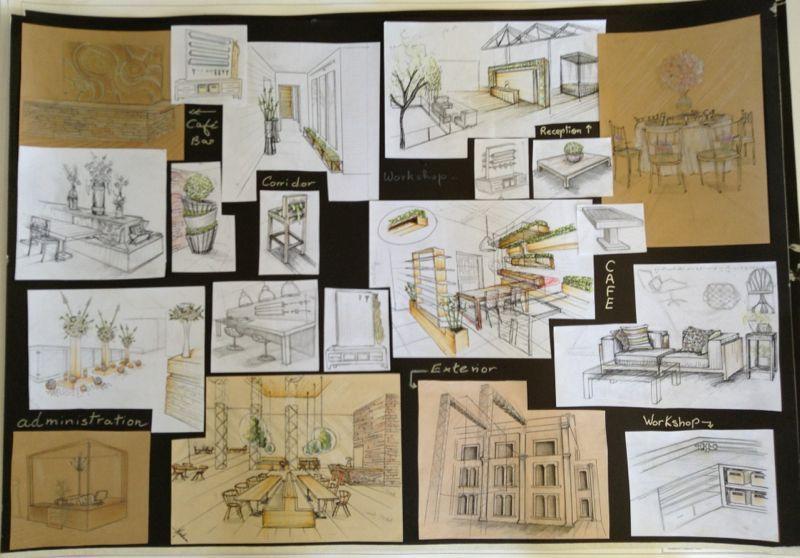 Pre Design Sketches Preparing The Style Key Ideas Avant Projet Project Presentation Design Sketch Graduation Project