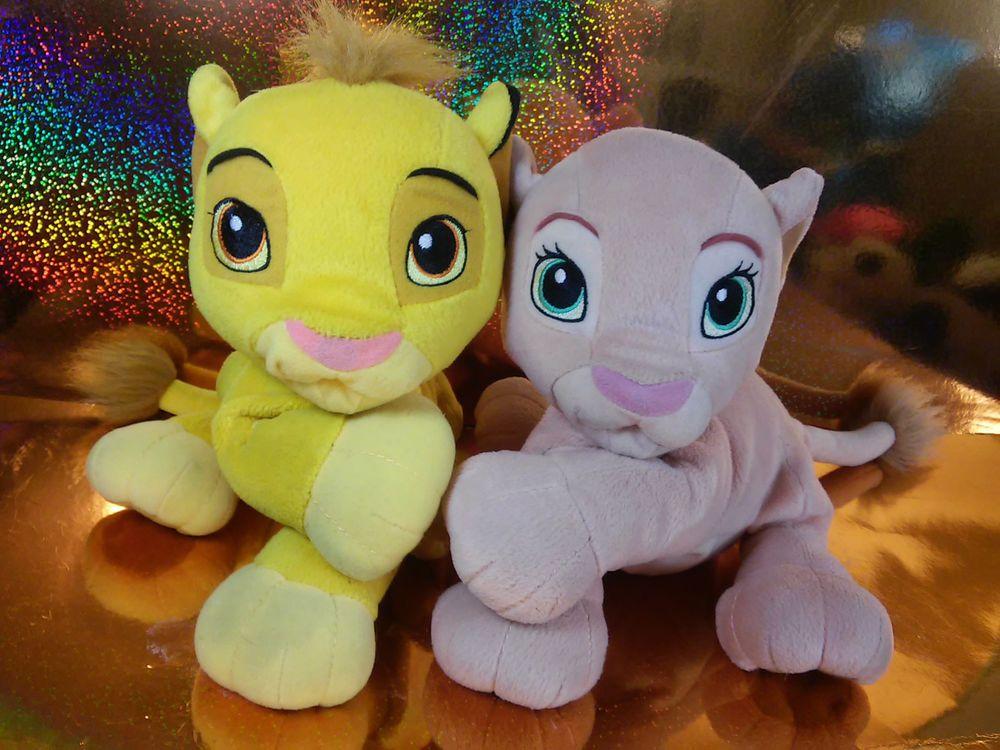 Disney Lion King Sweetheart Kissing Simba And Nala Plush